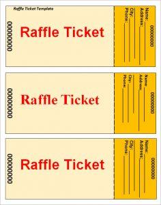 raffle ticket template raffle ticket template1