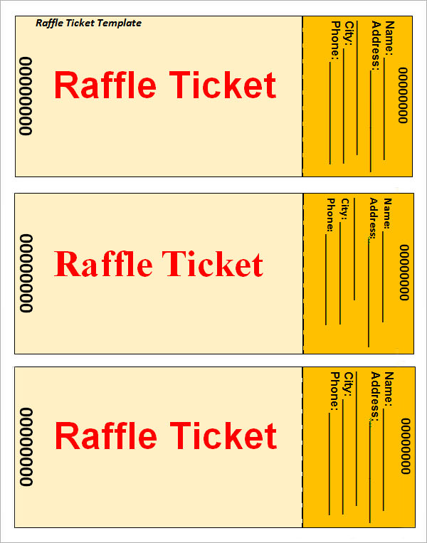 Raffle ticket template template business for Template for raffle tickets to print