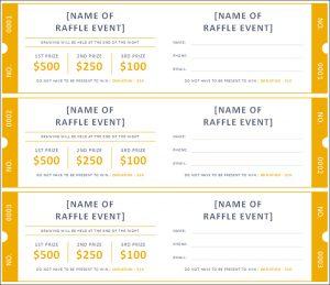 raffle tickets template raffle ticket template