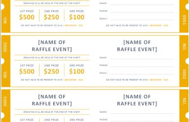 raffle tickets template raffle ticket template