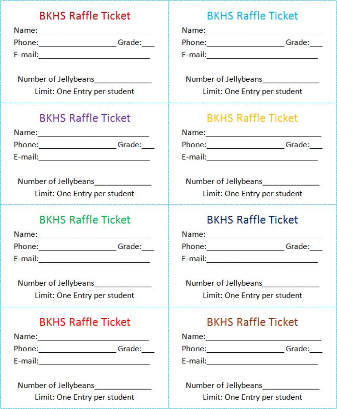 raffle email template