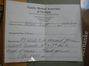 real doctors note for work