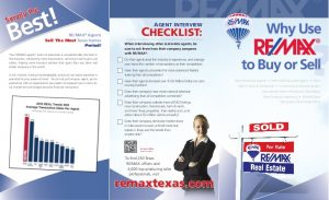 real estate agent flyer why use remax trifold