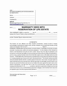 real estate bill of sale warrantydeedwithreservationoflifeestate