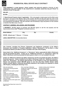 real estate contracts kansas residential real estate sale contract form