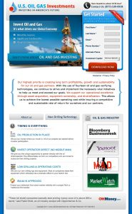 real estate landing pages oil and gas