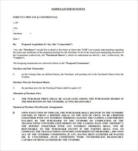 real estate letter of intent free printable letter of intent template share purchase download