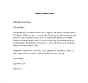 real estate letter of intent sample follow up marketing letter