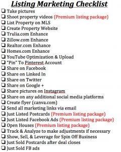 real estate listing marketing plan finallistingchecklist docx