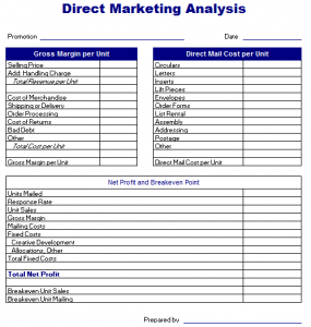 real estate marketing plan template direct marketing analysis template