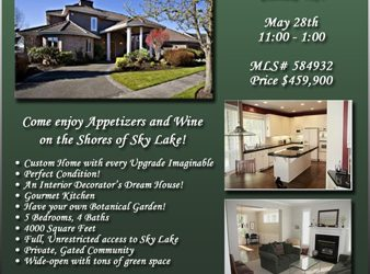 real estate open house flyer brokeropentemplategreen