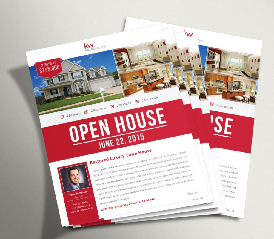 Real Estate Open House Flyer  Template Business