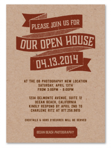 real estate open house flyer open house party gbp re