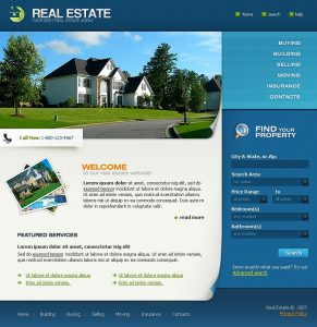 real estate templates homepage big