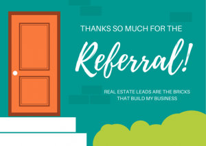 real estate thank you notes real estate referral