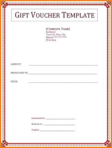 receipt for rent hotel voucher template gift voucher template