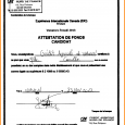 receipt template doc attestation d hebergement word