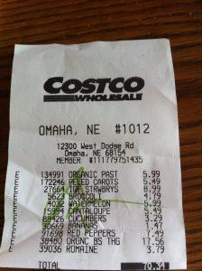 receipt template free costco receipt