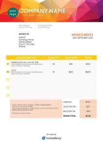 receipt template pdf invoiceberry pdf invoice template orange mountain