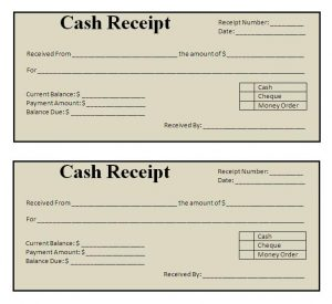 receipt template word free receipt template
