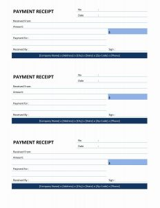 receipt template word payment receipt