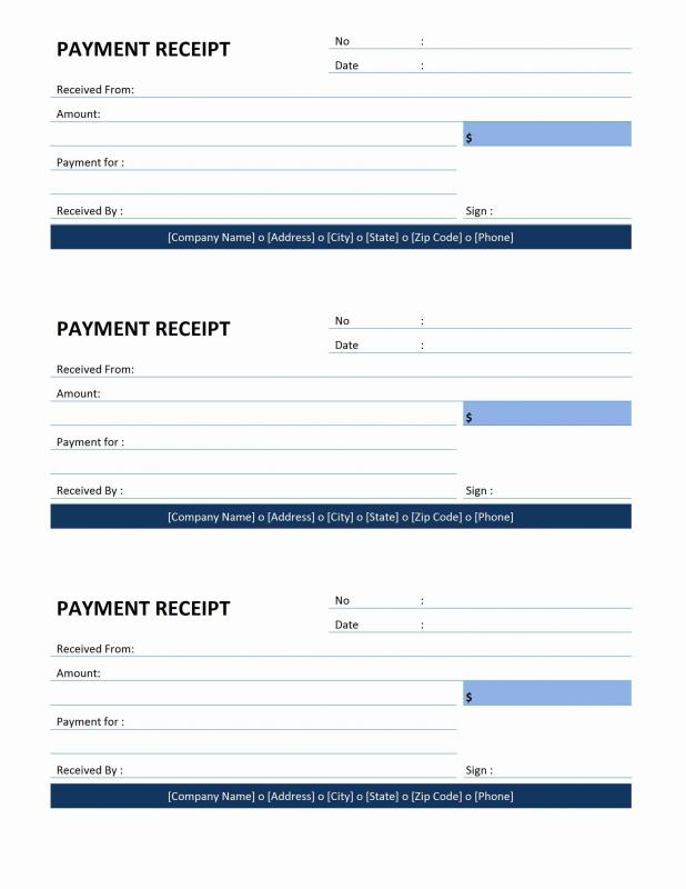 Receipt Template Word  Official Receipt Template Word