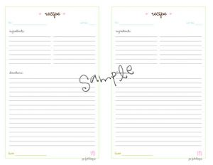 recipe card templates for word il xn