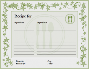 recipe template for word ms word recipe card template word excel templates