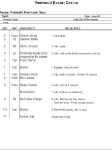 recipe template for word excel recipe template for chefs chefs resources
