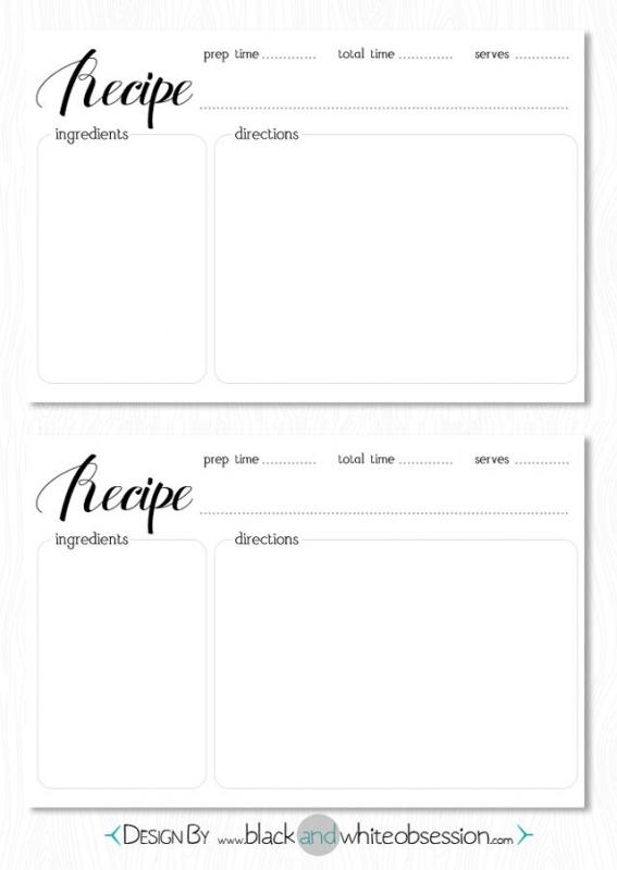 recipe template word
