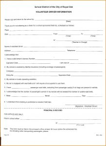 recipe template word field trip form template volunteer driver form