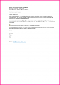recommendation letter for employee letter of recommendation from current employer
