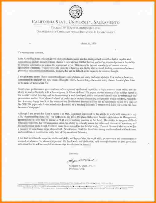 graduate letter of recommendation recommendation letter for grad school template business 49806