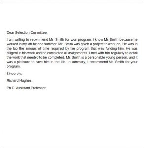 recommendation letter for job write recommendation letter