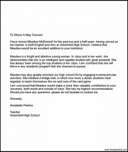 recommendation letter for student going to college college recommendation letter for high school student