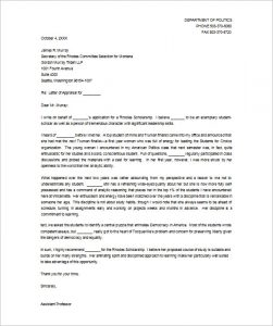 recommendation letter for student scholarship sample recommendation letter for the rhodes scholarship