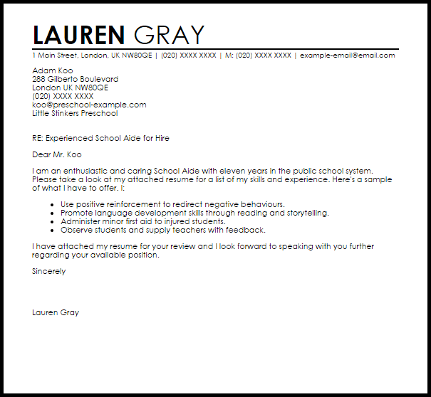 recommendation letter example for student