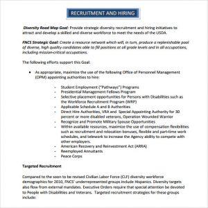 recruiting plan templates recruitment and hiring