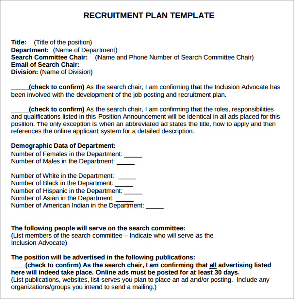 recruitment plan templates