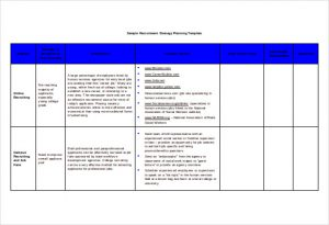 recruitment plan templates recruitment strategy planning template free doc format
