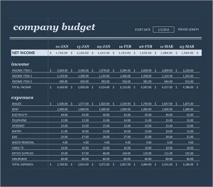 recruitment planner template business budget planning template
