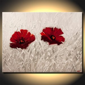 red flower painting red flowers painting on white background