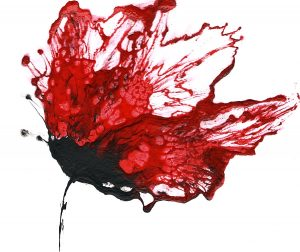 red flower painting