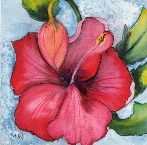 red flower painting red flower marsha woods