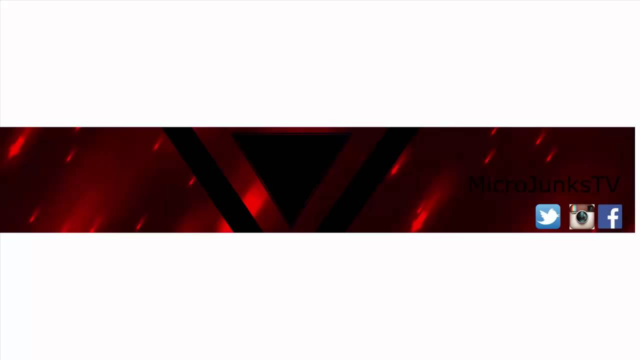 red youtube banner
