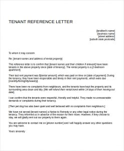 reference letter for apartment tenant reference letter for apartment
