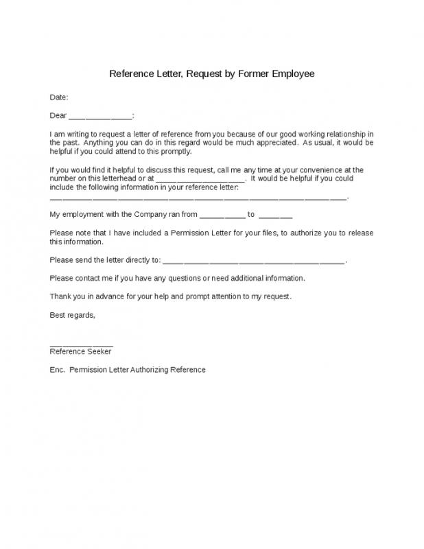 reference letter for employees