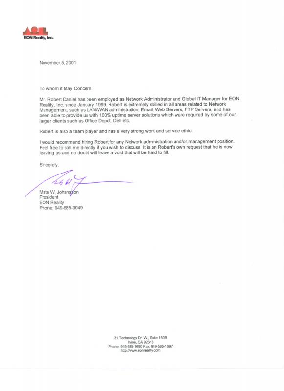 Reference Letter Sample  Template Business