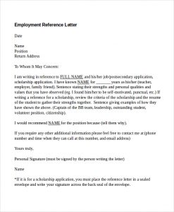 reference letters for employment employment reference letter doc