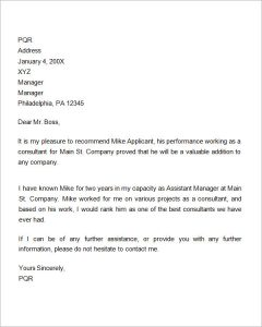 reference letters for employment recommendation letter for employment promotion